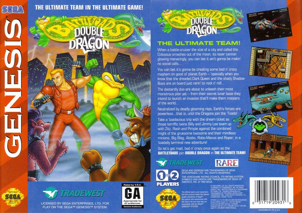 Double Dragon Dojo Battletoads And Double Dragon Sega Genesis Version Review