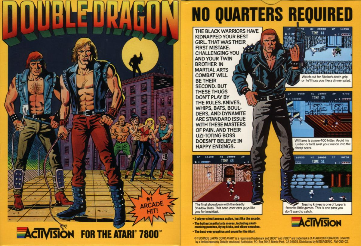 Double Dragon Dojo Double Dragon Atari 7800 Version Review