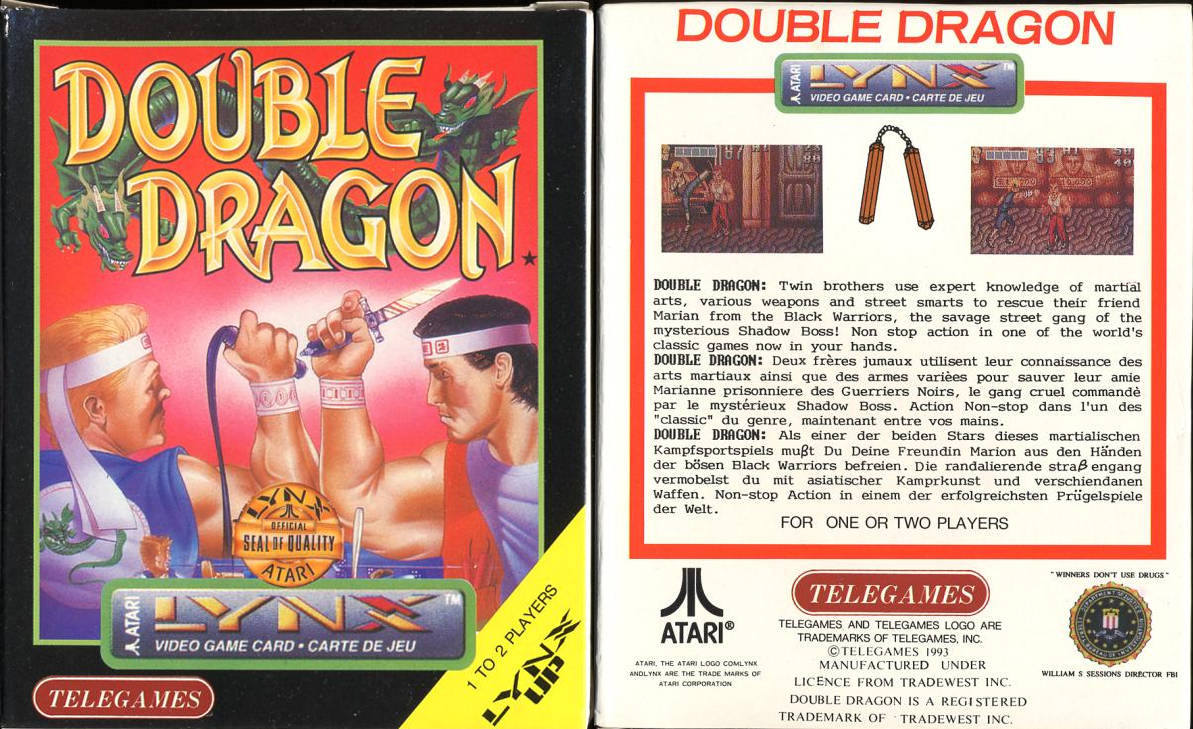 Quest Near Me >> Double Dragon Dojo: Double Dragon Atari Lynx version review