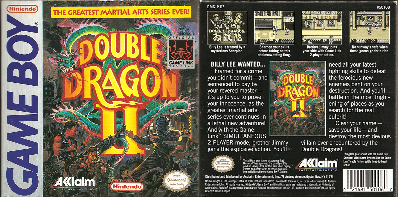 Double Dragon Dojo Double Dragon Ii Game Boy Version Review