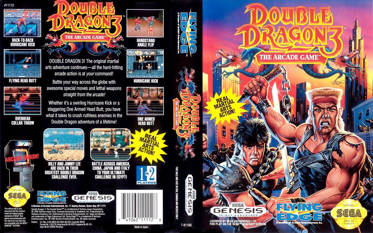 Double Dragon Dojo Double Dragon 3 Sega Genesis Version